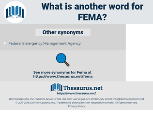FEMA, synonym FEMA, another word for FEMA, words like FEMA, thesaurus FEMA