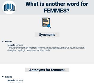 femmes, synonym femmes, another word for femmes, words like femmes, thesaurus femmes