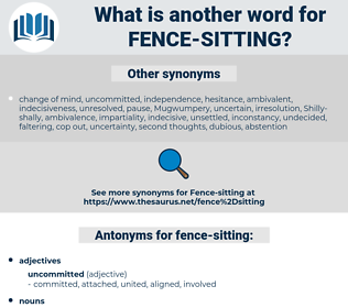 fence sitting, synonym fence sitting, another word for fence sitting, words like fence sitting, thesaurus fence sitting