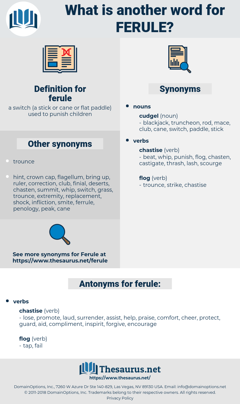 ferule, synonym ferule, another word for ferule, words like ferule, thesaurus ferule