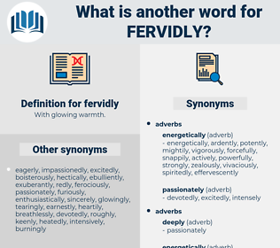 fervidly, synonym fervidly, another word for fervidly, words like fervidly, thesaurus fervidly