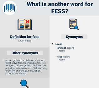 fess, synonym fess, another word for fess, words like fess, thesaurus fess