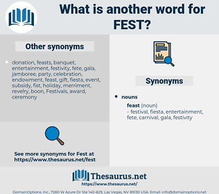 Fest, synonym Fest, another word for Fest, words like Fest, thesaurus Fest
