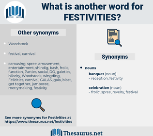 Festivities, synonym Festivities, another word for Festivities, words like Festivities, thesaurus Festivities