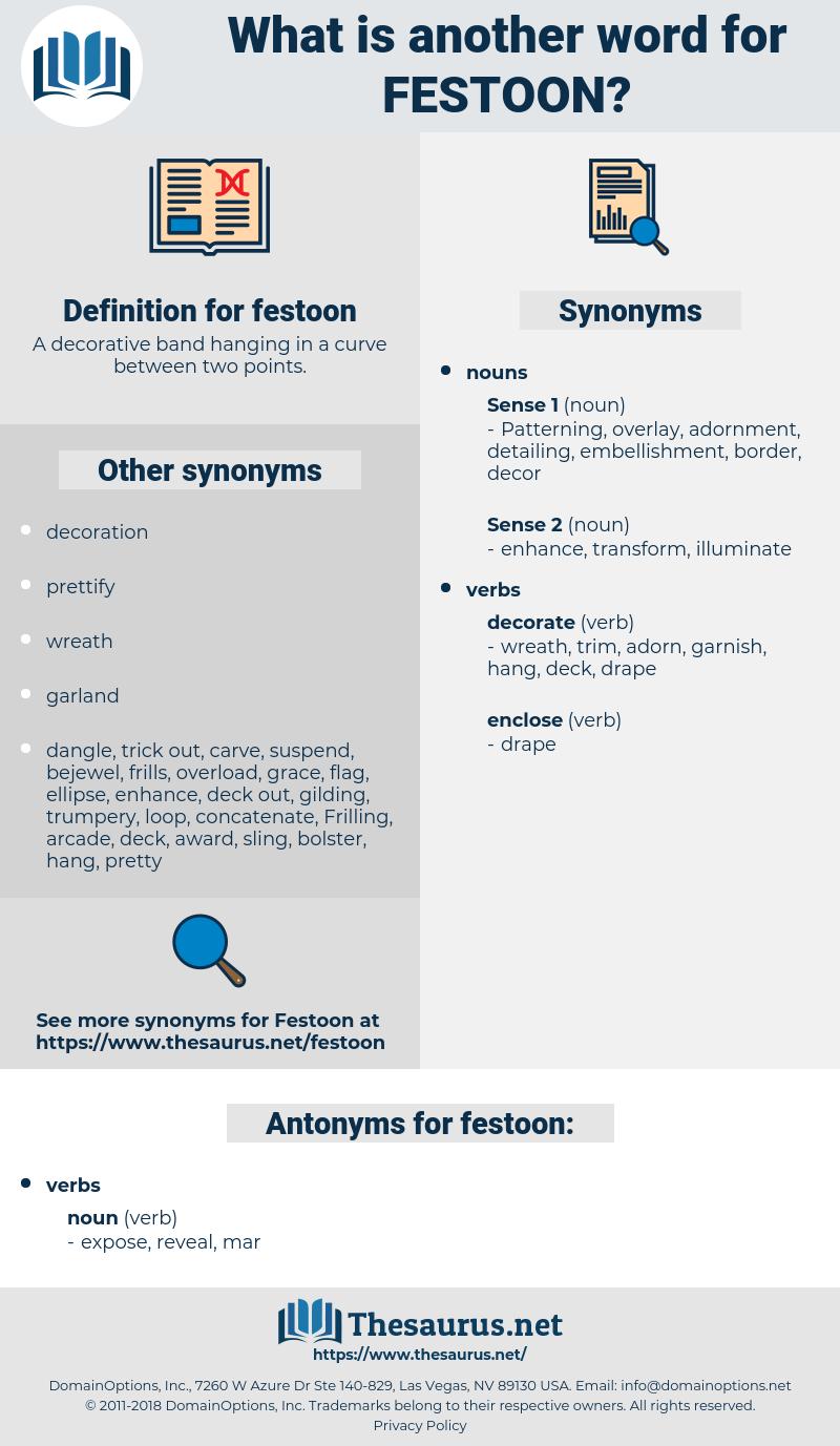 festoon, synonym festoon, another word for festoon, words like festoon, thesaurus festoon