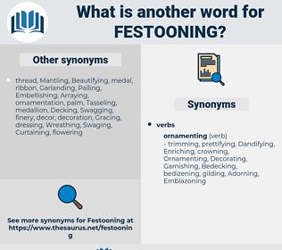 Festooning, synonym Festooning, another word for Festooning, words like Festooning, thesaurus Festooning