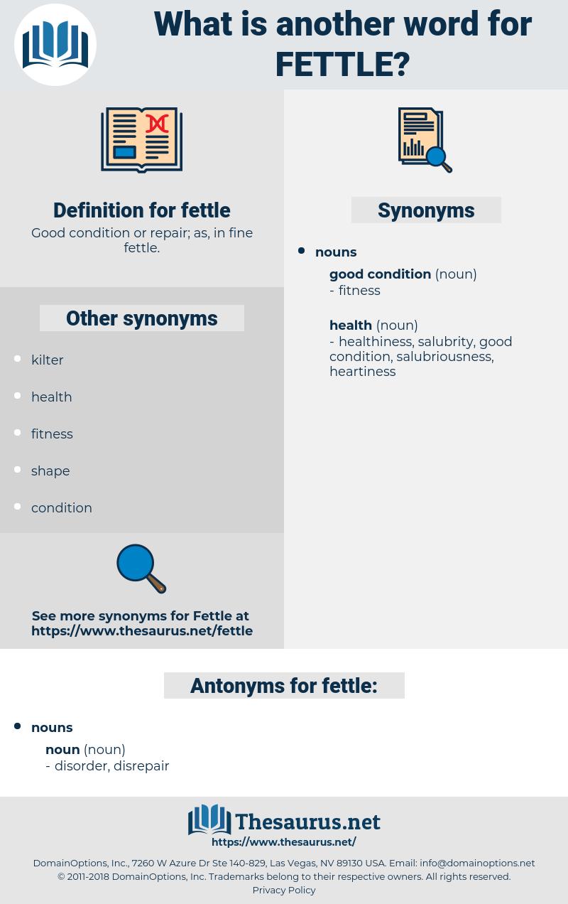 fettle, synonym fettle, another word for fettle, words like fettle, thesaurus fettle