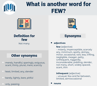 few, synonym few, another word for few, words like few, thesaurus few