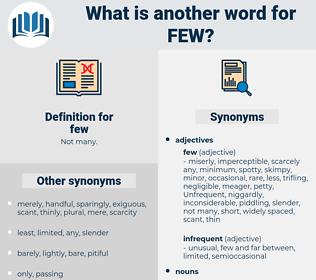 few, synonym few, another word for few, words like few, thesaurus few