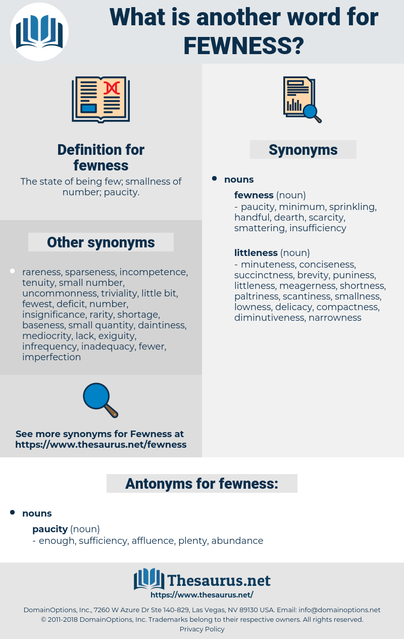fewness, synonym fewness, another word for fewness, words like fewness, thesaurus fewness
