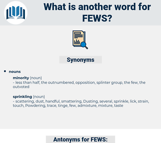 FEWS, synonym FEWS, another word for FEWS, words like FEWS, thesaurus FEWS