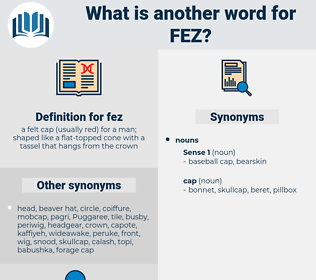 fez, synonym fez, another word for fez, words like fez, thesaurus fez