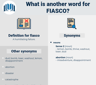 fiasco, synonym fiasco, another word for fiasco, words like fiasco, thesaurus fiasco