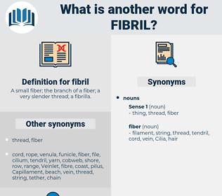 fibril, synonym fibril, another word for fibril, words like fibril, thesaurus fibril