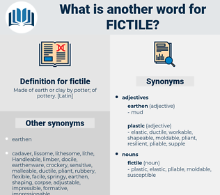 fictile, synonym fictile, another word for fictile, words like fictile, thesaurus fictile