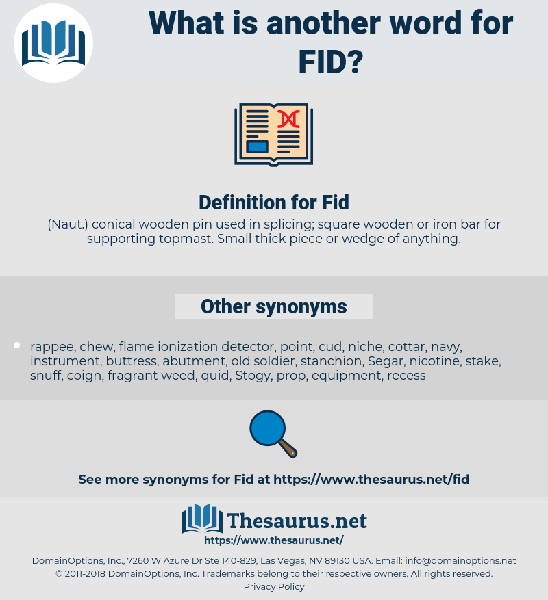 Fid, synonym Fid, another word for Fid, words like Fid, thesaurus Fid