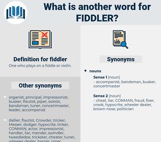 fiddler, synonym fiddler, another word for fiddler, words like fiddler, thesaurus fiddler