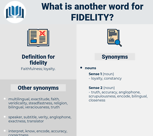 fidelity, synonym fidelity, another word for fidelity, words like fidelity, thesaurus fidelity