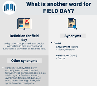 field day, synonym field day, another word for field day, words like field day, thesaurus field day