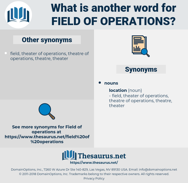 field of operations, synonym field of operations, another word for field of operations, words like field of operations, thesaurus field of operations