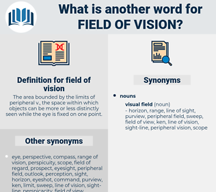 field of vision, synonym field of vision, another word for field of vision, words like field of vision, thesaurus field of vision