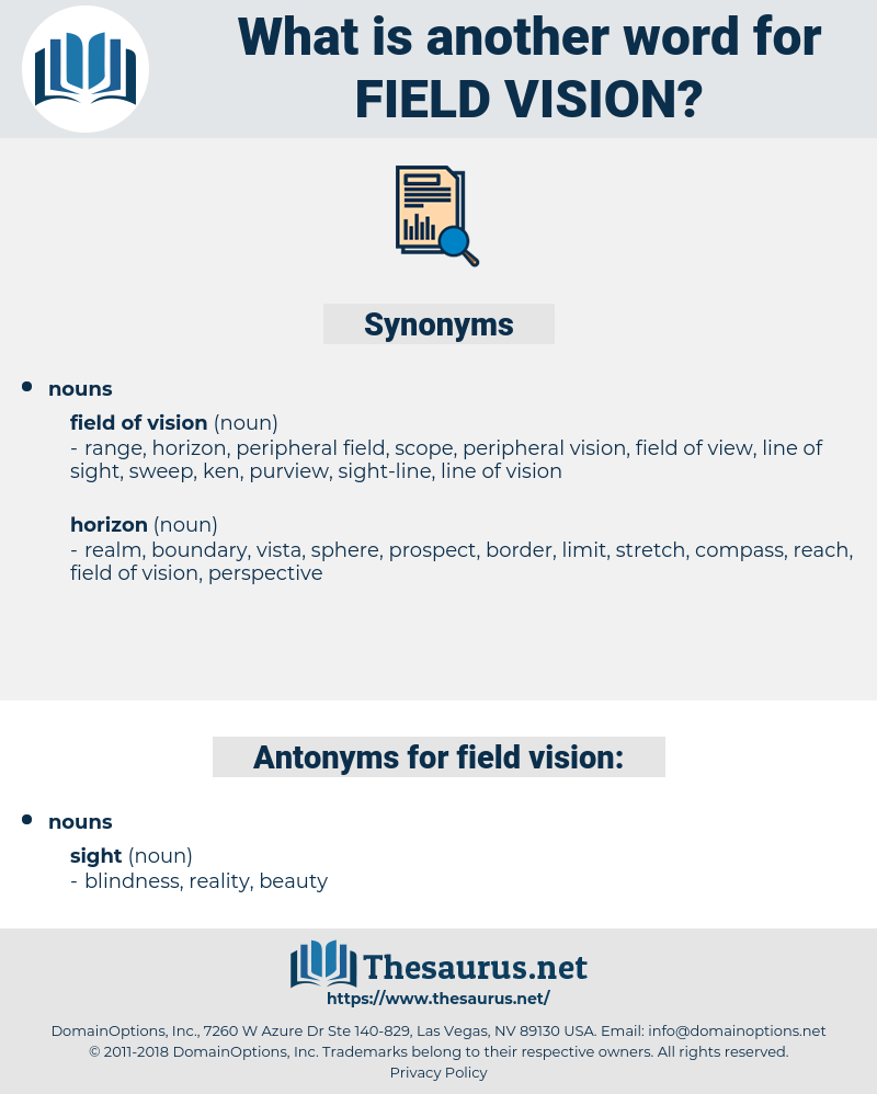 field vision, synonym field vision, another word for field vision, words like field vision, thesaurus field vision