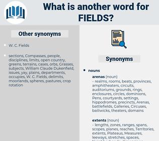 fields, synonym fields, another word for fields, words like fields, thesaurus fields