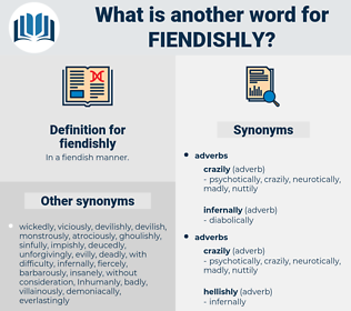 fiendishly, synonym fiendishly, another word for fiendishly, words like fiendishly, thesaurus fiendishly