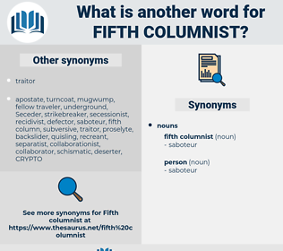 fifth columnist, synonym fifth columnist, another word for fifth columnist, words like fifth columnist, thesaurus fifth columnist