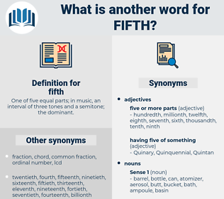 fifth, synonym fifth, another word for fifth, words like fifth, thesaurus fifth
