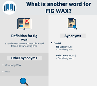 fig wax, synonym fig wax, another word for fig wax, words like fig wax, thesaurus fig wax