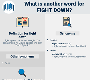 fight down, synonym fight down, another word for fight down, words like fight down, thesaurus fight down