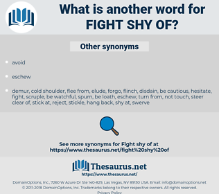 fight shy of, synonym fight shy of, another word for fight shy of, words like fight shy of, thesaurus fight shy of