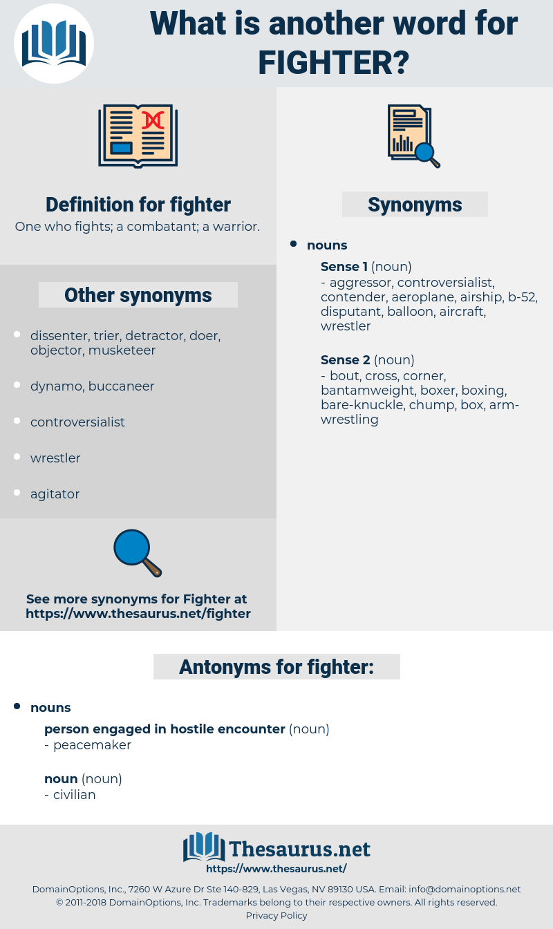 fighter, synonym fighter, another word for fighter, words like fighter, thesaurus fighter