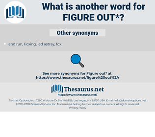 figure out, synonym figure out, another word for figure out, words like figure out, thesaurus figure out