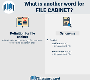 file cabinet, synonym file cabinet, another word for file cabinet, words like file cabinet, thesaurus file cabinet