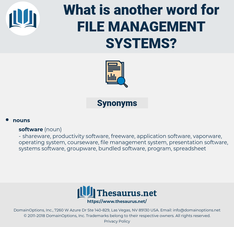 file management systems, synonym file management systems, another word for file management systems, words like file management systems, thesaurus file management systems