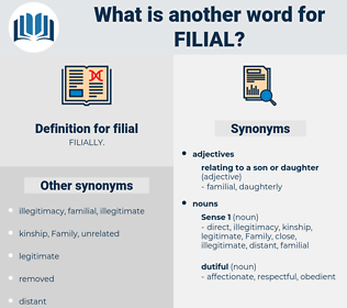 filial, synonym filial, another word for filial, words like filial, thesaurus filial