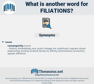 filiations, synonym filiations, another word for filiations, words like filiations, thesaurus filiations