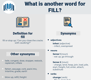 fill, synonym fill, another word for fill, words like fill, thesaurus fill