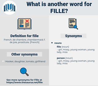 fille, synonym fille, another word for fille, words like fille, thesaurus fille