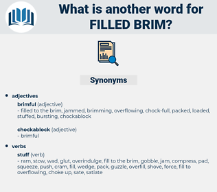 filled brim, synonym filled brim, another word for filled brim, words like filled brim, thesaurus filled brim