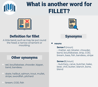 fillet, synonym fillet, another word for fillet, words like fillet, thesaurus fillet