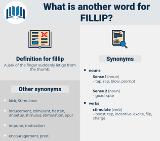 fillip, synonym fillip, another word for fillip, words like fillip, thesaurus fillip