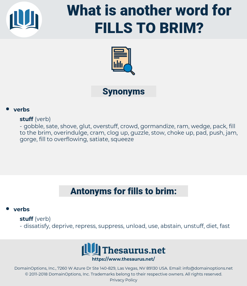 fills to brim, synonym fills to brim, another word for fills to brim, words like fills to brim, thesaurus fills to brim