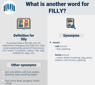 filly, synonym filly, another word for filly, words like filly, thesaurus filly
