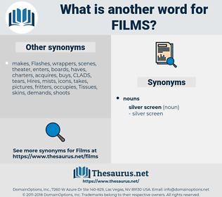 Films, synonym Films, another word for Films, words like Films, thesaurus Films