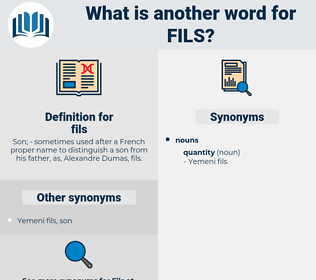 fils, synonym fils, another word for fils, words like fils, thesaurus fils