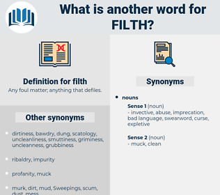 filth, synonym filth, another word for filth, words like filth, thesaurus filth