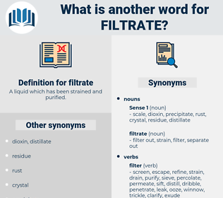 filtrate, synonym filtrate, another word for filtrate, words like filtrate, thesaurus filtrate